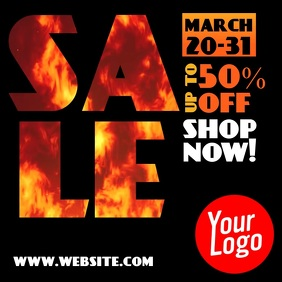 Sale up to 50% burn fire instagram video