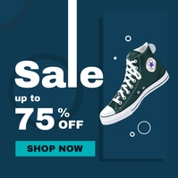sale up to 75% off instagram post advertiseme