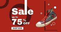 Sale up to 75% off particular item advertisem