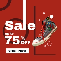 sale up to 75% off shoes advertisement instag