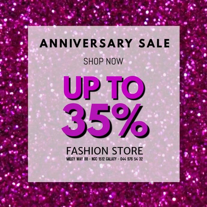 Sale video Anniversary advert promo glitter store retail