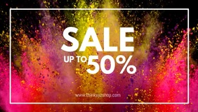 Sale Video Color Explosion Celebration Advert