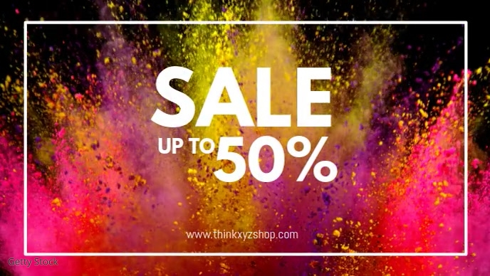 Sale Video Color Explosion Celebration Advert template