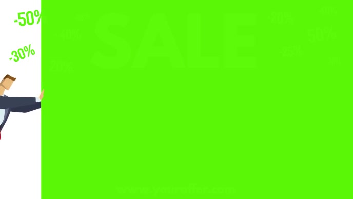Sale Video Discount Green Advert Cover % Shop