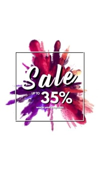 Sale video explosion advert promo store ad template