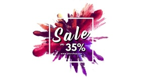 Sale Video Header Explosion Colors Event Ad