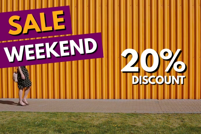 Sale Weekend Video Cover shop Price Off ad Spanduk 4' × 6' template
