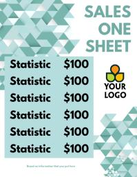 Sales One Sheet Template Volante (Carta US)