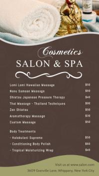 Salon & Spa Price list Digital Display Template