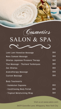 Salon & Spa Price list Digital Display Template