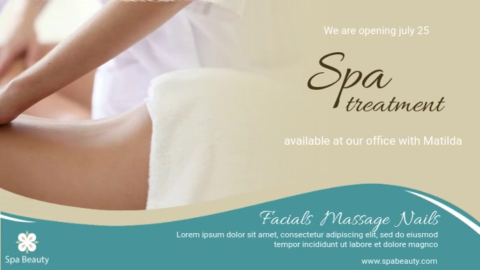Salon And Spa Display Facebook Cover Video Template