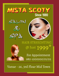 Salon Flyer (format US Letter) template