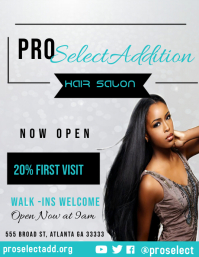 Salon Flyer template