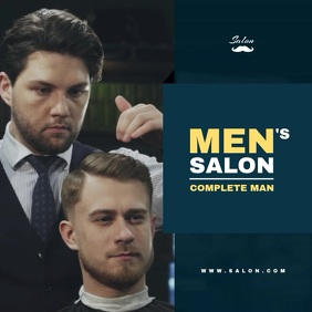 Salon for Men Video Template Album Cover