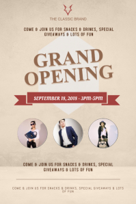 Salon Grand Opening Poster Template