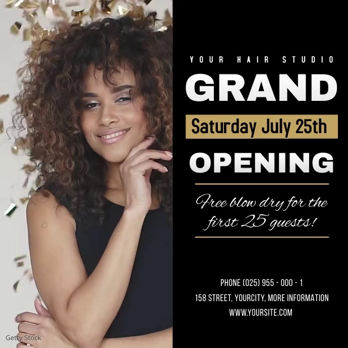 Salon Grand Opening Square Video