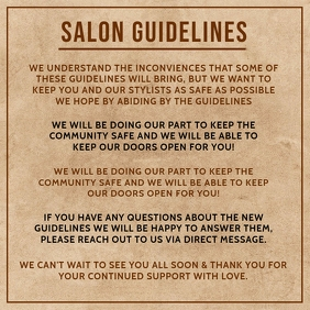 Salon Guidelines Template Square (1:1)