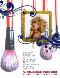 salon makeup artist Flyer Template