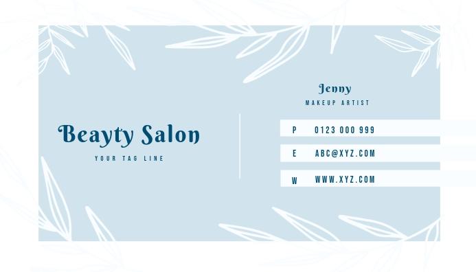 Salon Makeup Business Card Template Postermywall