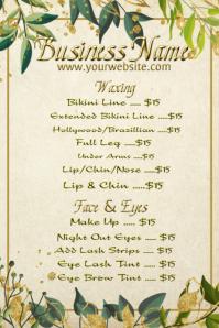 Salon Price List Advertising