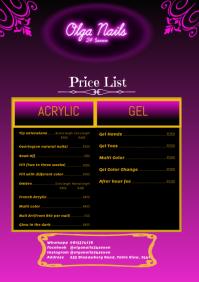 Salon Price List A4 template