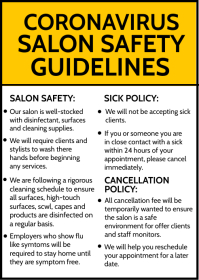 Salon Safety Guidelines Template