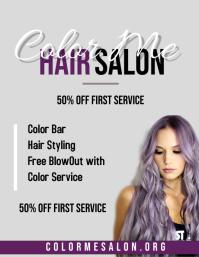 Salon Service Flyer (US Letter) template