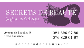 Salon Spa Haircut Beauty Business Card