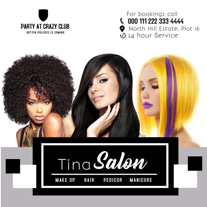 Salon spa poster 330 Square (1:1) template