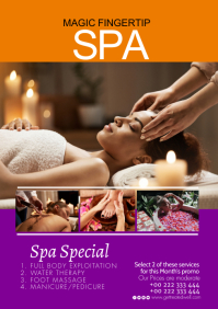 Salon spa poster Template A1