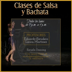 Salsa and bachata lessons instagram video template