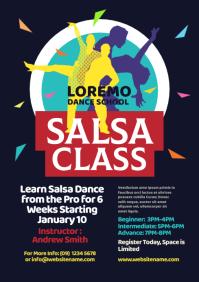 Salsa Class Flyer A4 template