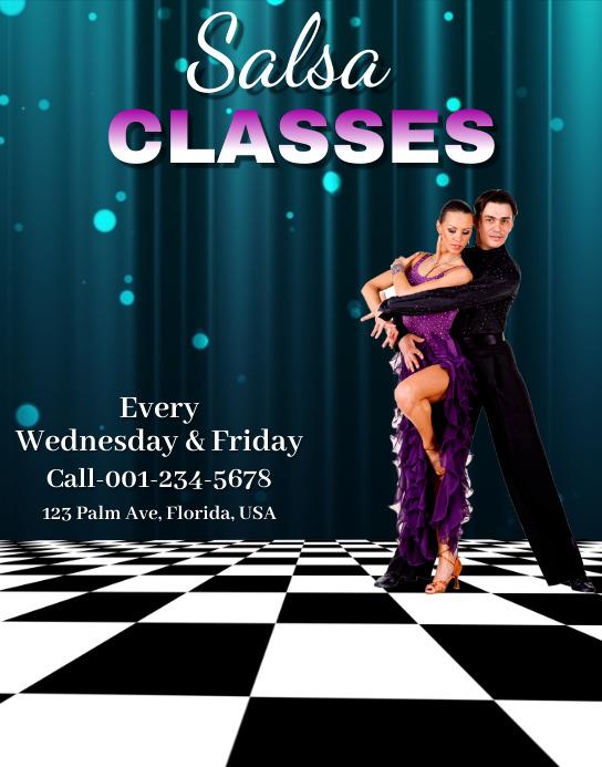 Salsa Classes Poster/Wallboard template