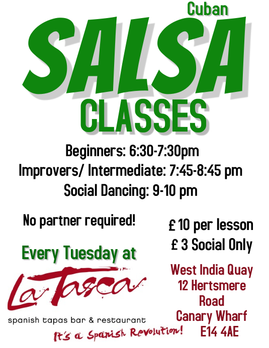 Salsa classes flyer template