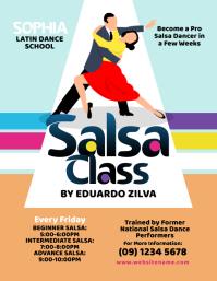 Salsa Dance Class Flyer Volante (Carta US) template