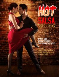 salsa dance flyer template