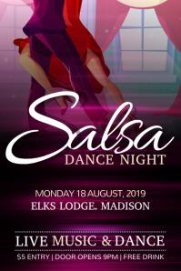 Salsa Dance Purple Poster