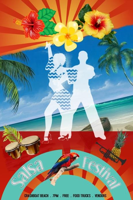 salsa/festival/hispanic/beach party/dance
