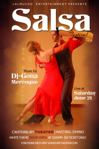 Salsa Night Dance Poster