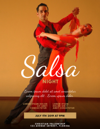 Salsa Night Flyer Template