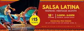 Salsa Night Hispanic Heritage Banner Facebook Cover Photo template