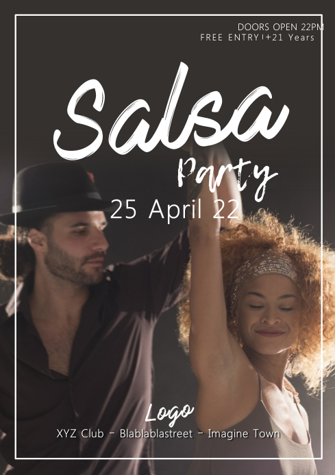 Salsa Night Party Dance Class Evening Party