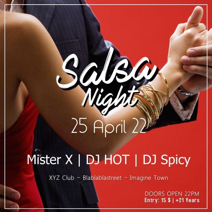 Salsa Night Party Latin Dance Event Dancing