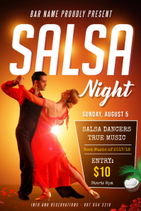 Salsa Night Poster Template