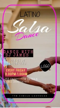 SALSA POSTER Instagram Story template