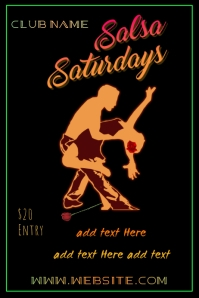 Salsa Saturdays Poster