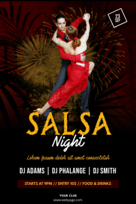 Salsa Tango Night Flyer Template