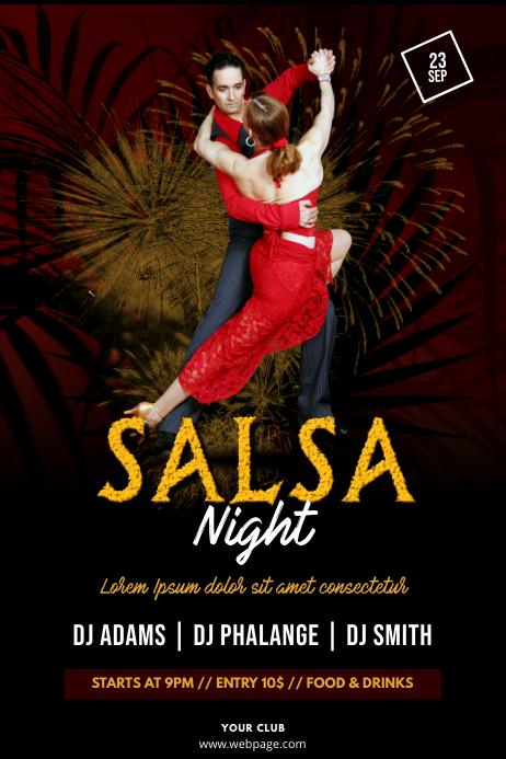 Salsa Tango Night Flyer Template