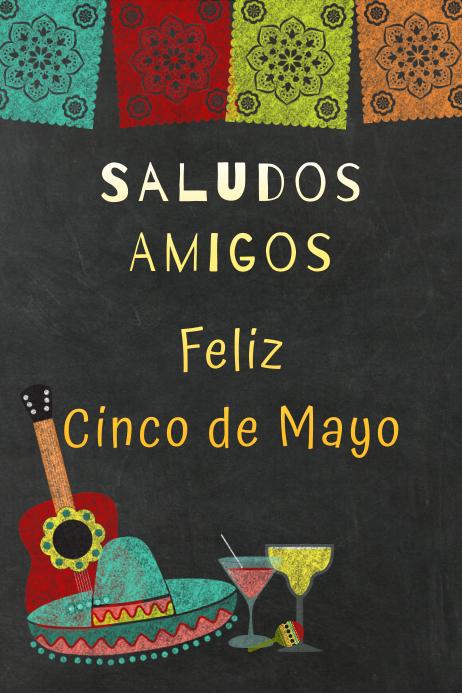 Saludos Poster template