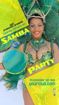 Samba Party Instagram Post Pantalla Digital (9:16) template